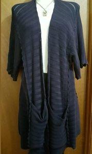 Anthropologie Guinevere kimono cardigan navy S